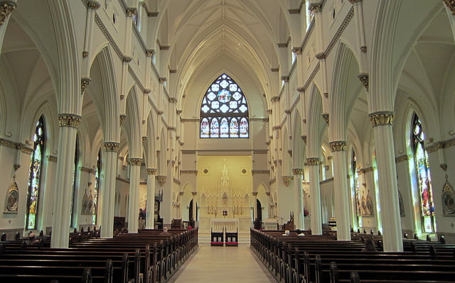 Cathedral of St John the Baptist Charleston interior 2.1383471315