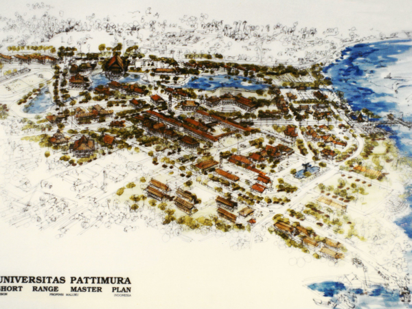 Universitas Pattimura campus Master Plan aerial.1383471346
